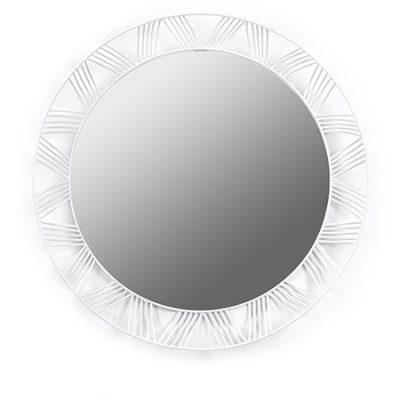espejo de metal blanco
