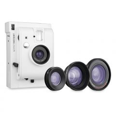 cámara lomográfica blanca
