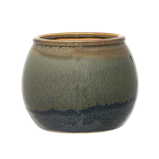 Macetero verde de gres nobel vinte Macetas ceramica online