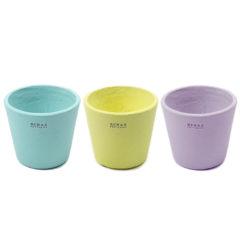 Botes de ceramica de colores